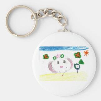 Baylie P Pha Basic Round Button Keychain