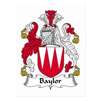 Baylor Family Crest Postcard