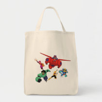 Baymax and his Super Hero Team Tote Bag