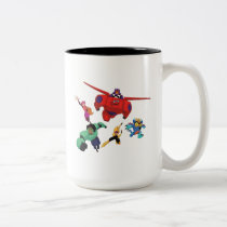 Baymax and his Super Hero Team Two-Tone Coffee Mug