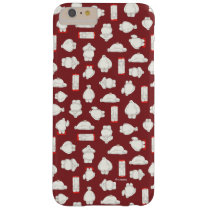 Baymax and Mochi Red Pattern Barely There iPhone 6 Plus Case