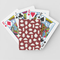 Baymax and Mochi Red Pattern Bicycle Playing Cards