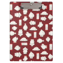 Baymax and Mochi Red Pattern Clipboard