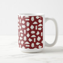 Baymax and Mochi Red Pattern Coffee Mug