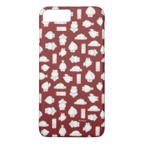 Baymax and Mochi Red Pattern iPhone 8 Plus/7 Plus Case