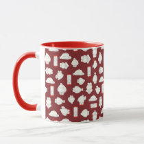 Baymax and Mochi Red Pattern Mug