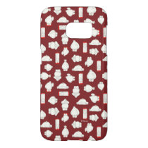 Baymax and Mochi Red Pattern Samsung Galaxy S7 Case