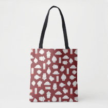 Baymax and Mochi Red Pattern Tote Bag