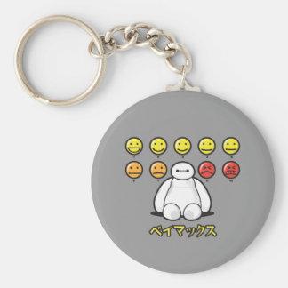 Baymax Emojicons Llavero Redondo Tipo Pin