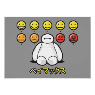 Baymax Emojicons Poster