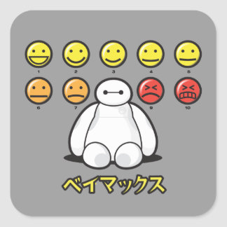 Baymax Emojicons Square Sticker