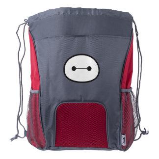 Baymax Face Outline Drawstring Backpack