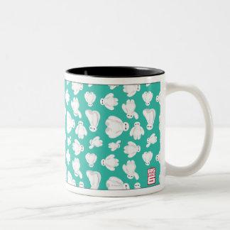 Baymax Green Classic Pattern Two-Tone Coffee Mug