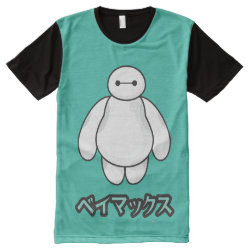 Men's American Apparel All-Over Printed Panel T-Shirt with Big Hero 6 Baymax ベイマックス design