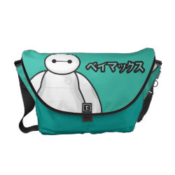 Rickshaw Medium Zero Messenger Bag with Big Hero 6 Baymax ベイマックス design