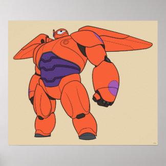 Baymax Orange Suit Poster