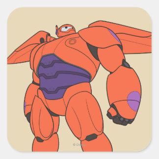Baymax Orange Suit Square Stickers