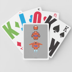 Playing Cards with Baymax Mech Flight Take-Off design