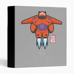 Avery Signature 1' Binder with Baymax Mech Flight Take-Off design