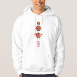 Men's Basic Hooded Sweatshirt with Baymax Mech Flight Take-Off design