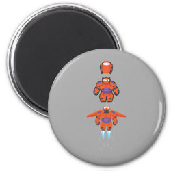 Round Magnet with Baymax Mech Flight Take-Off design