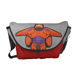 Rickshaw Medium Zero Messenger Bag with Baymax Mech Flight Take-Off design