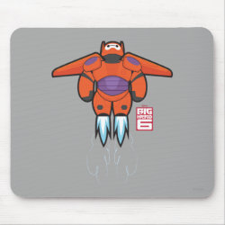 Baymax Mech Flight Take-Off Mousepad