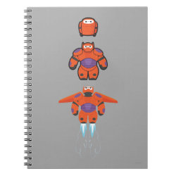 Photo Notebook (6.5' x 8.75', 80 Pages B&W) with Baymax Mech Flight Take-Off design