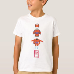 Kids' Hanes TAGLESS® T-Shirt with Baymax Mech Flight Take-Off design