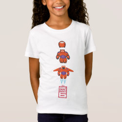 Girls' Fine Jersey T-Shirt with Baymax Mech Flight Take-Off design