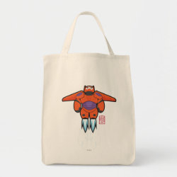 Grocery Tote with Baymax Mech Flight Take-Off design