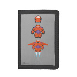 TriFold Nylon Wallet with Baymax Mech Flight Take-Off design