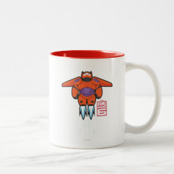 Two-Tone Mug with Baymax Mech Flight Take-Off design