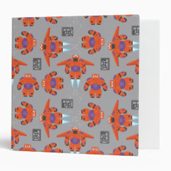 Avery Signature 1' Binder with Baymax in Battle Armor Superhero Pattern design