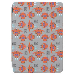 iPad Air Cover with Baymax in Battle Armor Superhero Pattern design