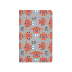 Pocket Journal with Baymax in Battle Armor Superhero Pattern design