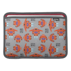 Macbook Air Sleeve with Baymax in Battle Armor Superhero Pattern design