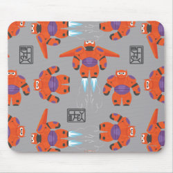 Baymax in Battle Armor Superhero Pattern Mousepad