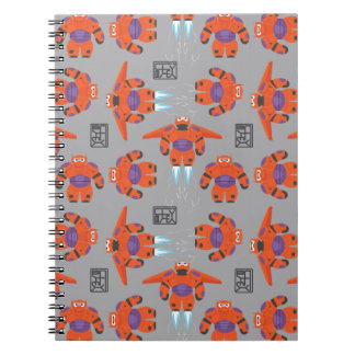 Baymax Orange Supersuit Pattern Spiral Note Books