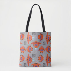 All-Over-Print Tote Bag, Medium with Baymax in Battle Armor Superhero Pattern design