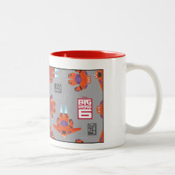 Baymax in Battle Armor Superhero Pattern Two-Tone Mug
