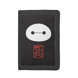 TriFold Nylon Wallet with Cute Baymax Seal design