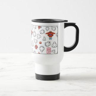 Baymax Suit Pattern Travel Mug
