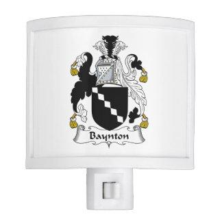 Baynton Family Crest Nite Lite