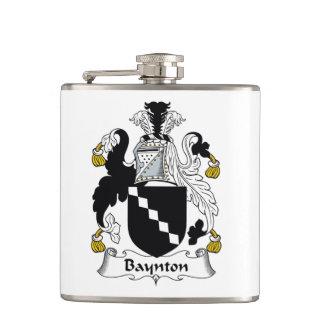 Baynton Family Crest Hip Flask