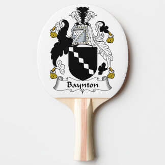 Baynton Family Crest Ping-Pong Paddle