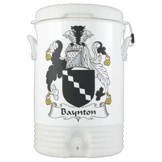 Baynton Family Crest Igloo Beverage Dispenser