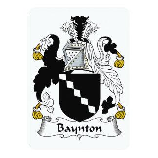 "Baynton Family Crest 5"" X 7"" Invitation Card"
