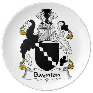 Baynton Family Crest Porcelain Plate