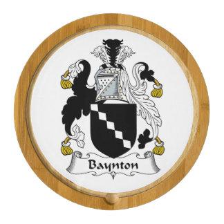 Baynton Family Crest Round Cheeseboard